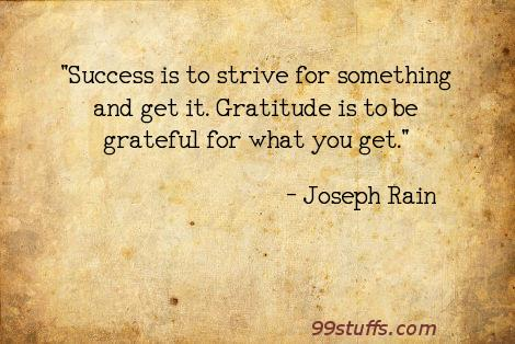 gratitude,strive,success