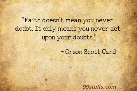 doubt,faith