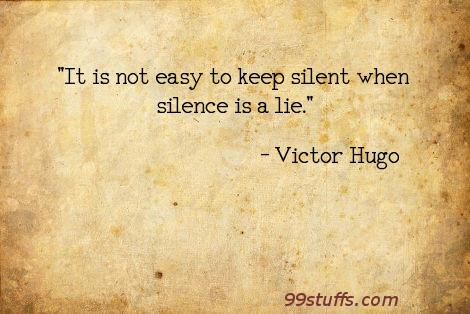 honesty,silence,truth