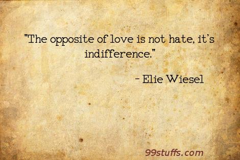 perils of indifference rhetorical analysis B in this speech, elie wiesel believes indifference can cause a person to lose their humanity indifference is not a response to any given situation, but only an uncompassionate, hardhearted feeling.