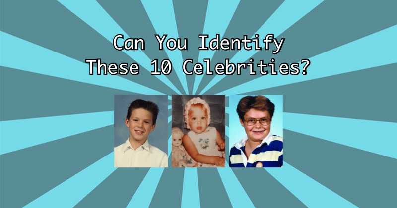 Can You Identify These Celebrities?