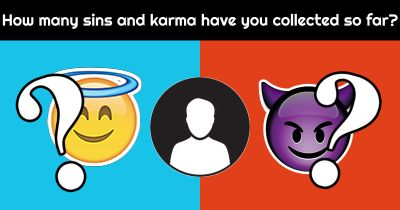 How many sins and karma have you collected so far?