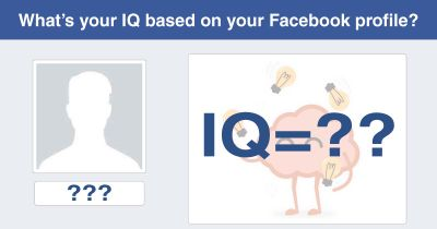 What's your IQ based on your Facebook profile?
