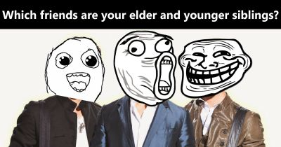Which friends are your elder and younger siblings?