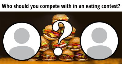 Who should you compete with in an eating competition?