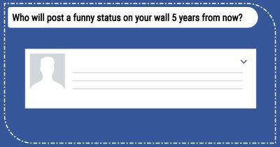Who will post a funny status on your wall 5 years from now?