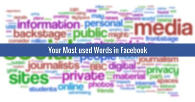 [Word Cloud] Find out your most used words in Facebook.